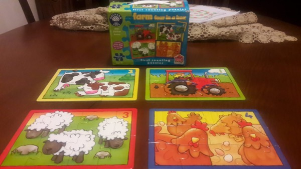 Orchard Toys 4 adet Farm Puzzle