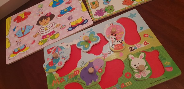 Yeni Fisher price puzzle ve diğer 2 puzzle tahta