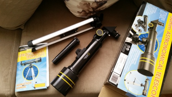National Geographic 50 mm astronomical telescope