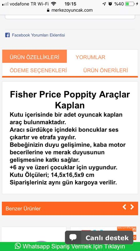 Fisher Price Araba & Mekanik Oyuncaklar
