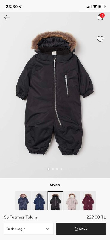 H&M 6-9 Ay  Unisex Astronot Mont